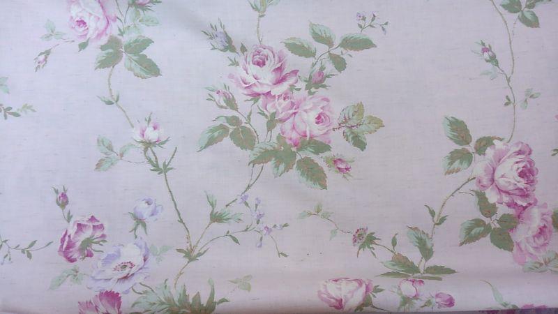 画像1: 薔薇柄布ー1
